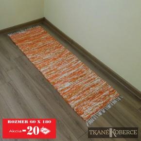 Tkaný koberec oranžový - akcia0002